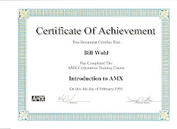 AMX Intro Certification 1995