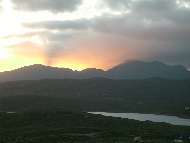 Sunset over Harris - shortly to become sunrise