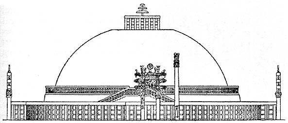 Sanchi Stupa Plan Elevation : Izzati zulkifli sanhi stupa