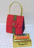 Stamped and folded mini purse with nugget
