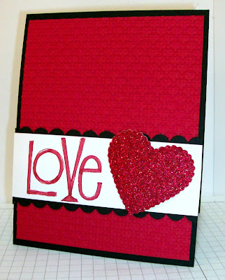 Valentine with Glimmer Paper heart