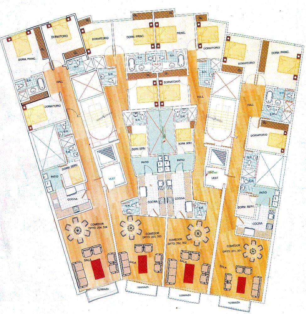 Interior design planos de edificio de departamentos for Departamentos en planos