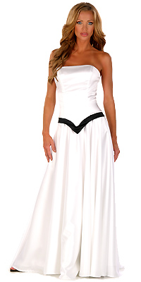 Vestidos de color blanco con negro