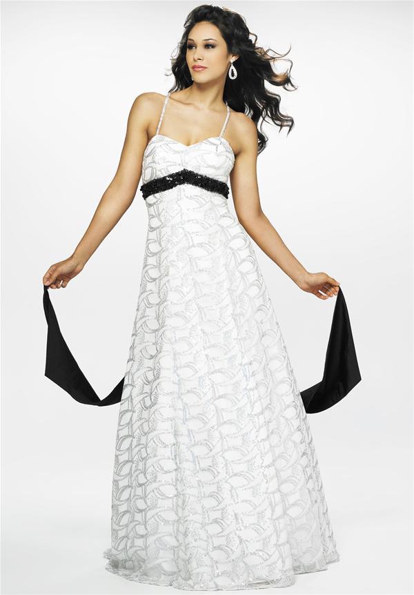 Vestidos para graduacion blanco y negro