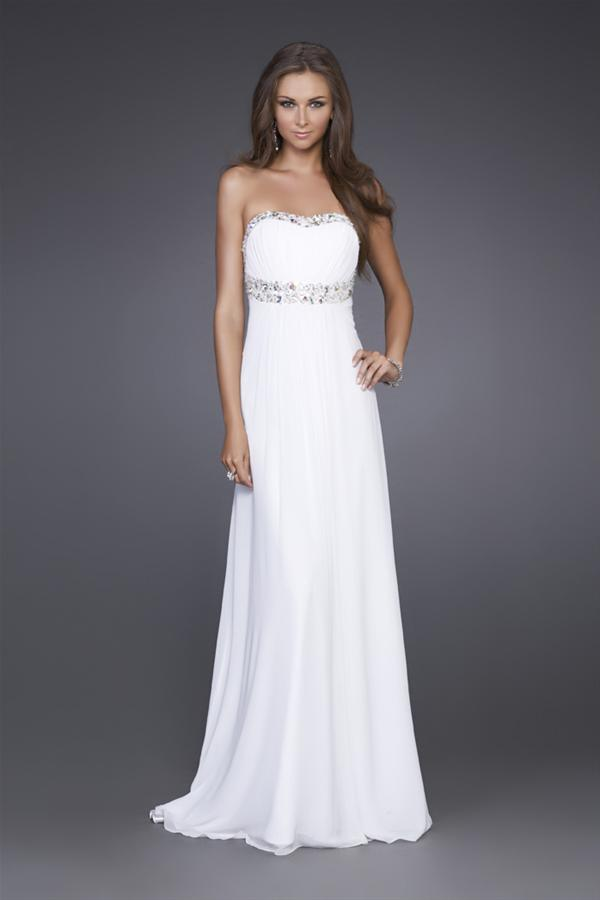 Vestidos noche largos color blanco