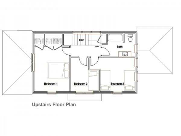 Plano De Casa De 2 Pisos 3 Dormitorios Y 127 Metros Cuadrados - Planos-de-pisos-de-3-dormitorios