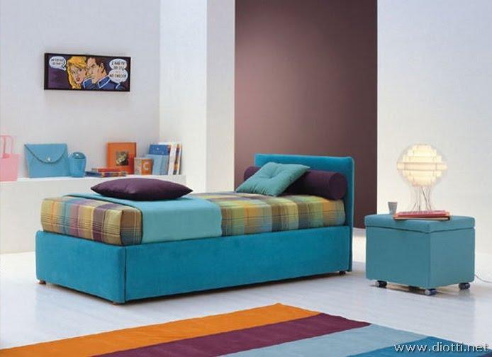 la combinacin de los colores turquesa y marrn berenjena para un dormitorio juvenil genera un ambiente muy bello y fresco