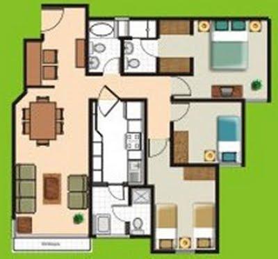 Interior design house planos de departamentos gratis y for 70m2 house design