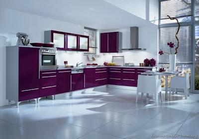 Decoraci n de cocinas con color morado p rpura o lila - Cocina color lila ...