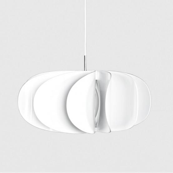 Moderna lámpara colgante inspirada por las formas florales ...
