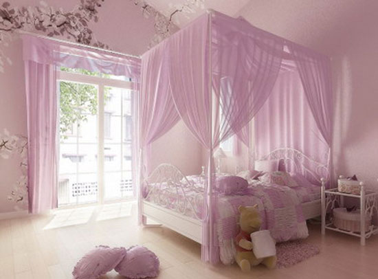 : Decoracion de un dormitorio de niña inspirado en princesas
