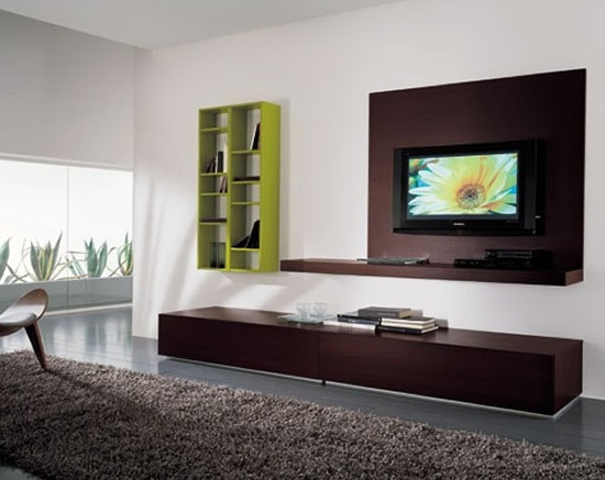 Moderna sala de estar con tv lcd decorando mejor for Decorando mi sala