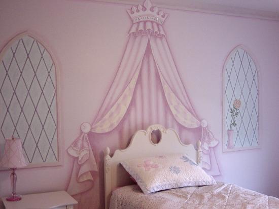 Dormitorios infantiles mural para una princesa for Dormitorios infantiles nina princesas