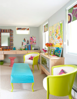 luminoso y colorido diseño Dormitorio