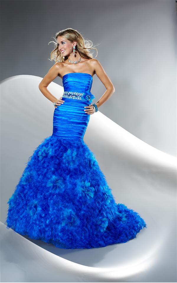 Vestidos de promocion en azul electrico