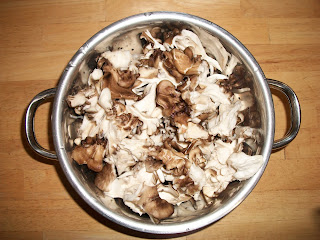 Maitake Mushroom Cleaned and Cut