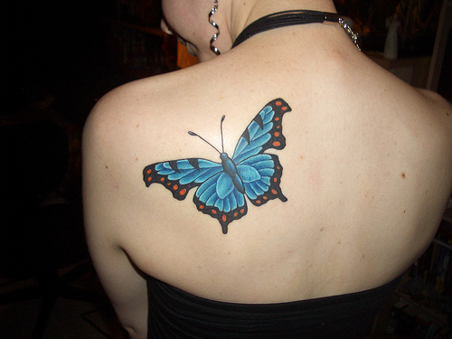 butterfly tattoo on shoulder. When choosing shoulder tattoo