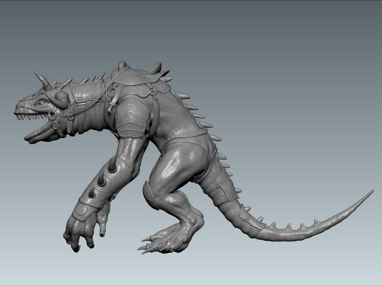 huan phan Dragon Viking High Res Zbrush Model