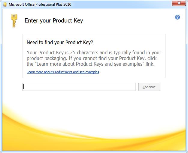 Ключи Microsoft Office 2010