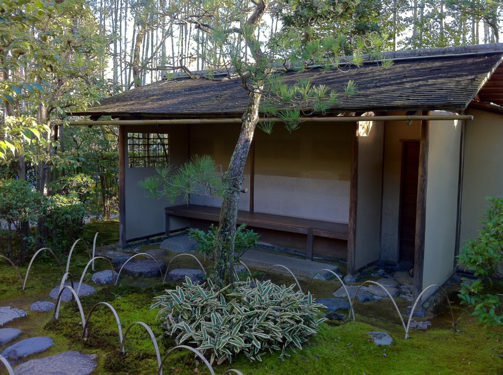 Tales Of Japanese Tea Koshikake Machiai Waiting Bench In Tearoom Garden