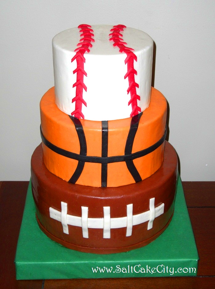 Cake Decorations For Sports : Salt Cake City: Sports Cake