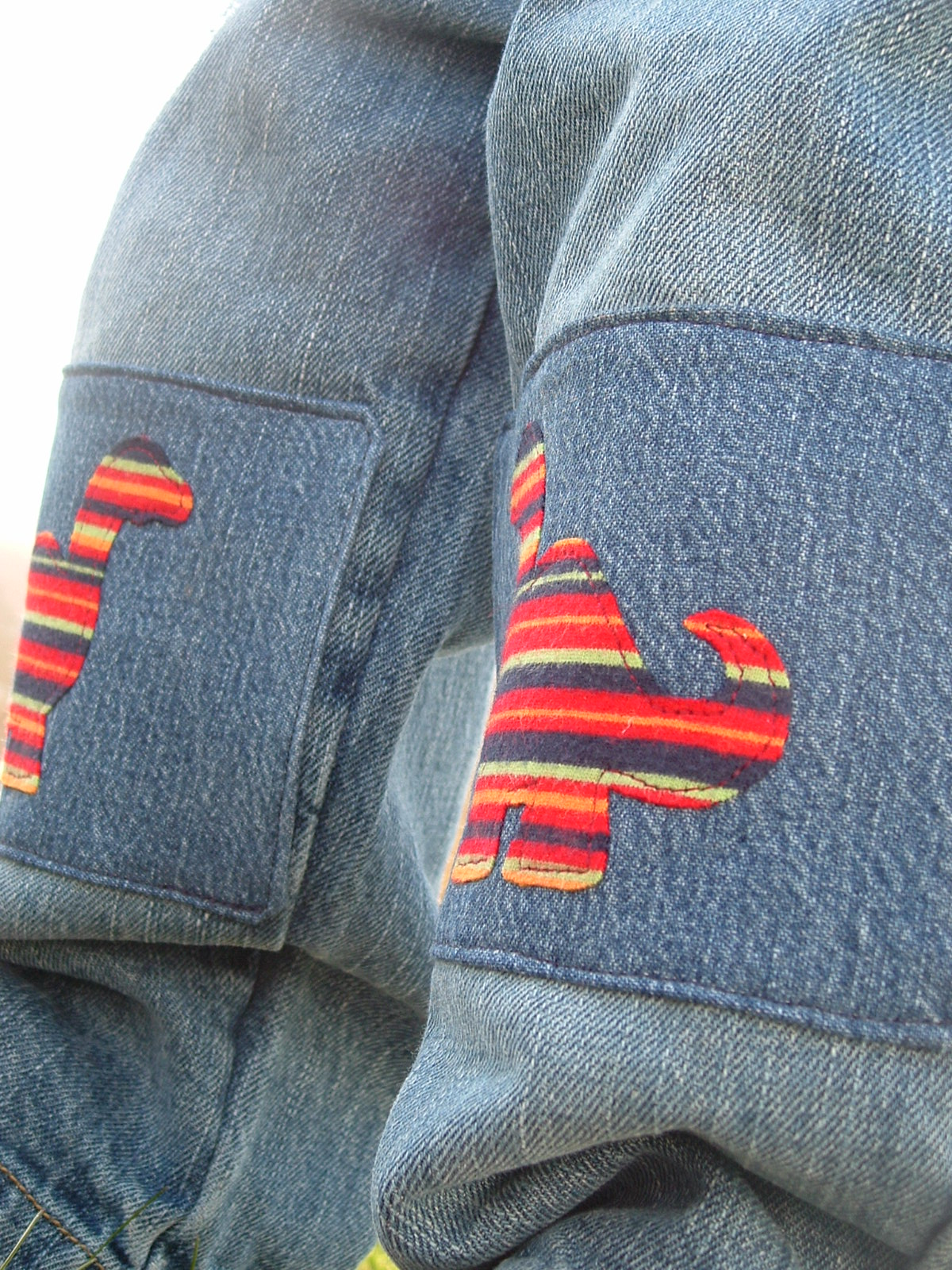 Get a little more wear out of those jeans and make a fun fashion statement with sturdy denim patches. Find this Pin and more on Knee patches for kids by sandra G. See more.