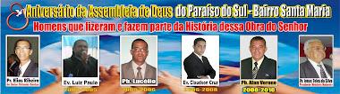 DIRIGENTES QUE PASSARAM PELA CONGREGAÇÃO DO PARAÍSO DO SUL