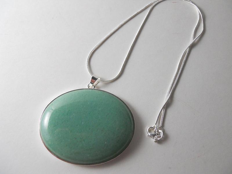 lu lu s loft of designs green aventurine pendant necklace