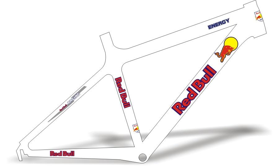 Armario Capsula Masculino ~ Stickers Design Adesivo Bike Red Bull