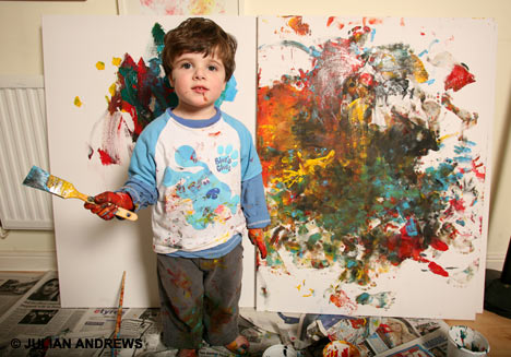 art gallery fooled by two-year-old artist