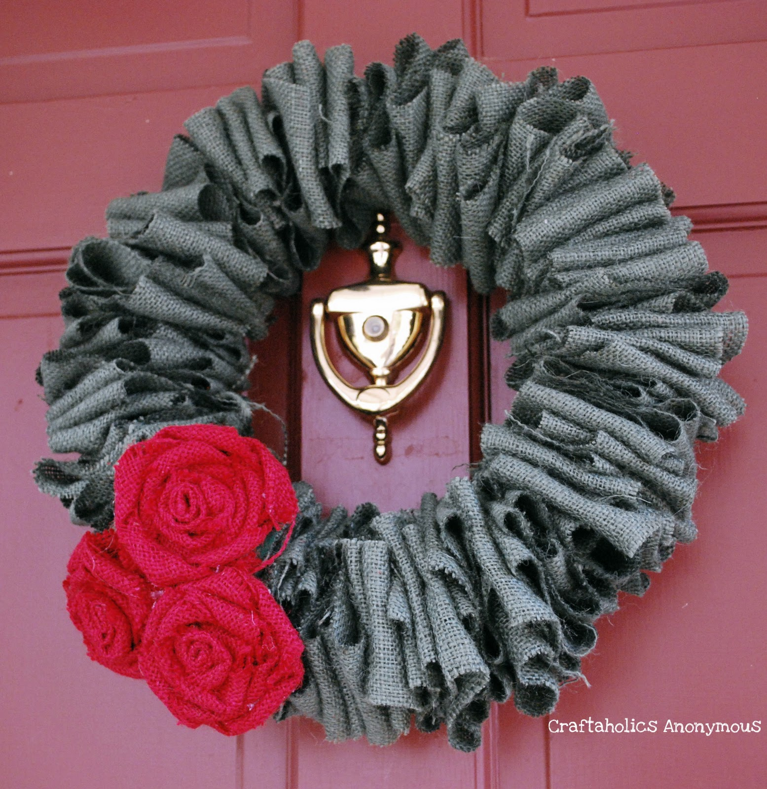 burlap christmas wreath - Burlap Christmas Wreath
