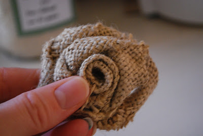 flowers made from burlap