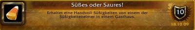 World of Warcraft Schlotternächte Erfolg Achievement Süßes oder saures