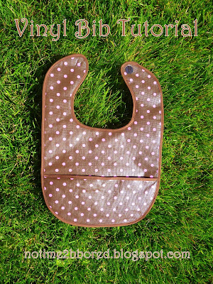 vinyl baby bib with pocket