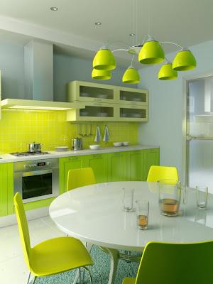 Yellow Green Kitchen Design