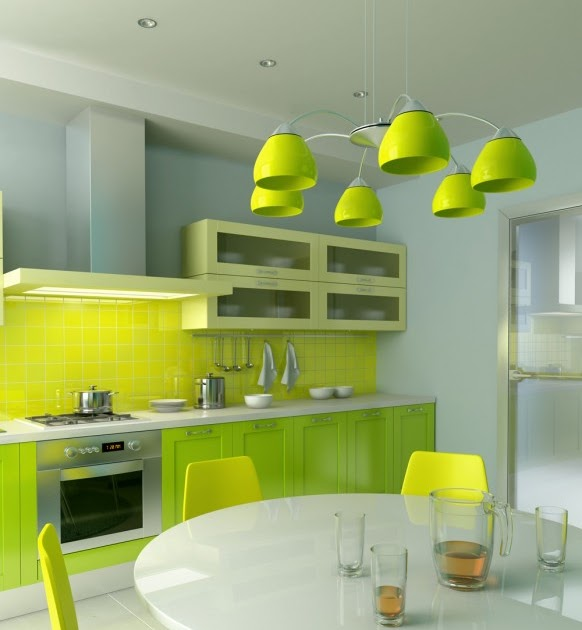 all about kitchen and recipe yellow green kitchen design