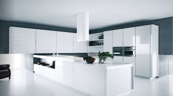 Simple white kitchen design all about kitchen and recipe for Basic white kitchen units