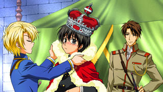 Yuuri Shibuya, Wolfram von Bielefeld and Conrad Weller from Kyo Kara Maoh or God Save Our King