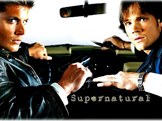 Jared Padalecki as Sam Winchester and Jensen Ackles as Dean Winchester in Supernatural TV Series