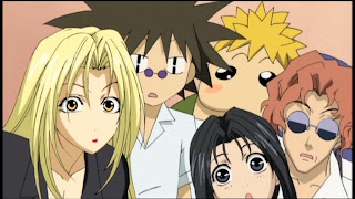 Hevn, Natsumi, Paul, Ginji Amano and Ban Mido of GetBackers