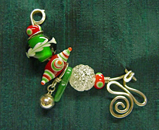 fibula pin by Robin Atkins, bead artist