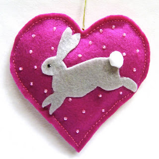 rabbit Christmas ornament by Janet Briggs