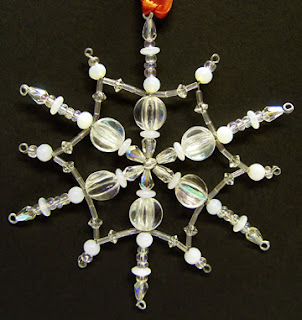 beaded snowflake by Thom Atkins