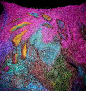 felt vessel by Una, detail