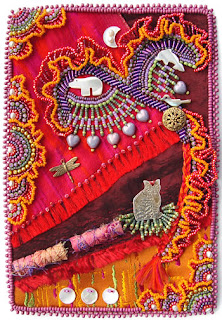 bead embroidery by Robin Atkins, Bead Journal Project, September 07, Gifts of Friendship