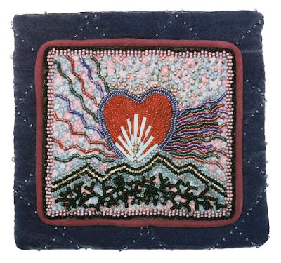 improvisational bead embroidery, robin atkins, beaded bag