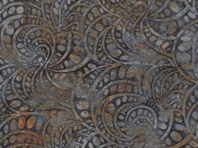 batik fabric, Hoffman, Smoke G2220
