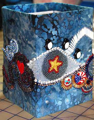 bead embroidery by Angela Plager, Wayne's Box