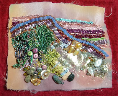 bead journal project, Julie Cook, Yellowstone Impressions