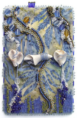 Bead Journal Project, Christi Carter, shells, sky